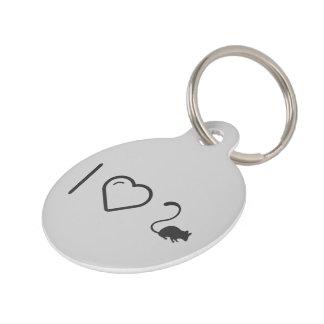 I Love Mouse Pet ID Tags