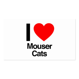 i love mouser cats Double-Sided standard business cards (Pack of 100)
