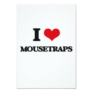 I Love Mousetraps 3.5x5 Paper Invitation Card
