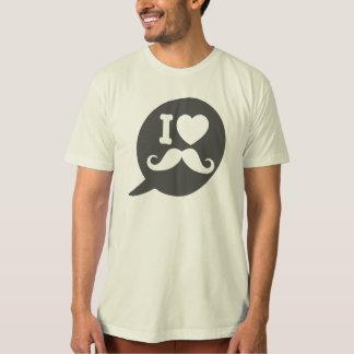 I love Moustache - bubble Tee Shirt