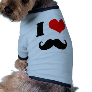 I love moustache pet tshirt