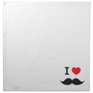 I Love Moustache Napkin