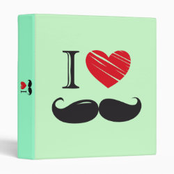 Avery Signature 1' Binder with I Love Moustaches design