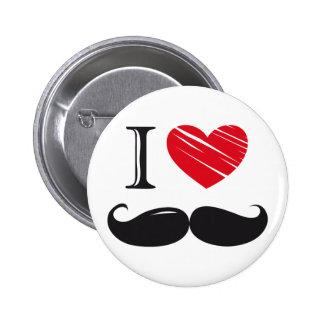 I Love MOUSTACHE Nr 1 Buttons