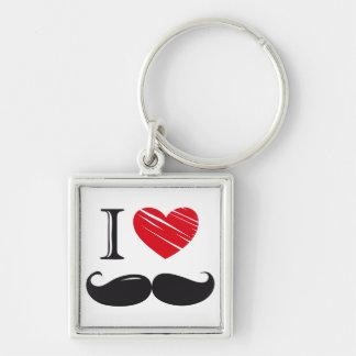 I Love MOUSTACHE Nr 1 Keychain