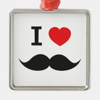 I Love Moustache Christmas Ornaments
