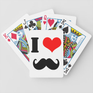 I love moustache playing cards