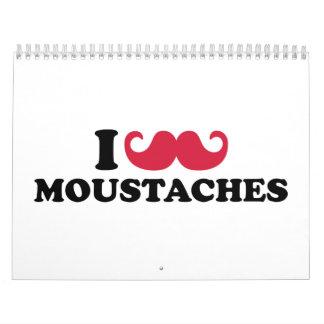 I love Moustaches Calendar