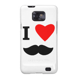 I Love Moustaches Samsung Galaxy S2 Covers