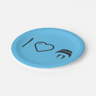 I Love Moustaches 7 Inch Paper Plate