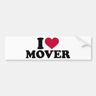 I love mover bumper sticker