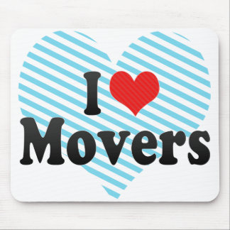 I Love Movers Mouse Pad