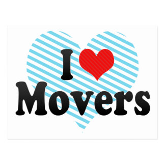 I Love Movers Postcard
