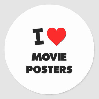 I Love Movie Posters Classic Round Sticker