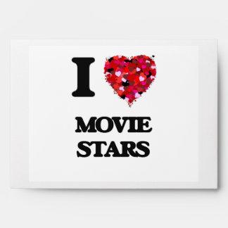 I Love Movie Stars Envelopes
