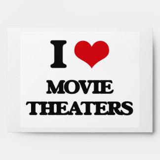 I Love Movie Theaters Envelopes
