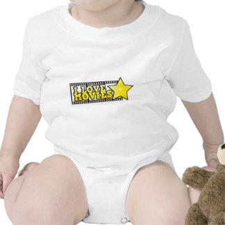 I love movies baby bodysuit
