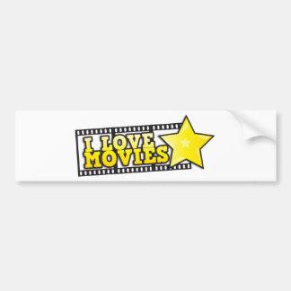 I love movies bumper stickers