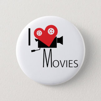 I LOVE MOVIES BUTTON