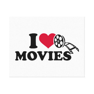 I love Movies Canvas Print
