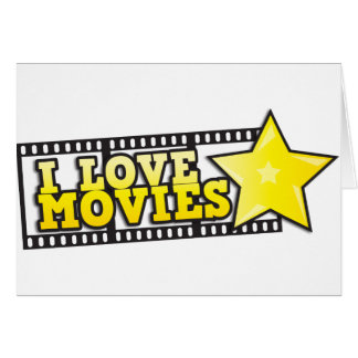 I love movies card