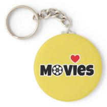 I love Movies Keychain