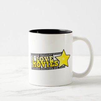 I love movies Two-Tone coffee mug