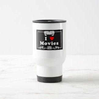 I Love Movies with Silent Movie Flair Coffee Mugs