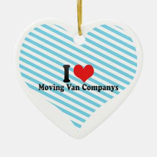 I Love Moving Van Companys Ceramic Ornament
