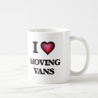 I Love Moving Vans Coffee Mug