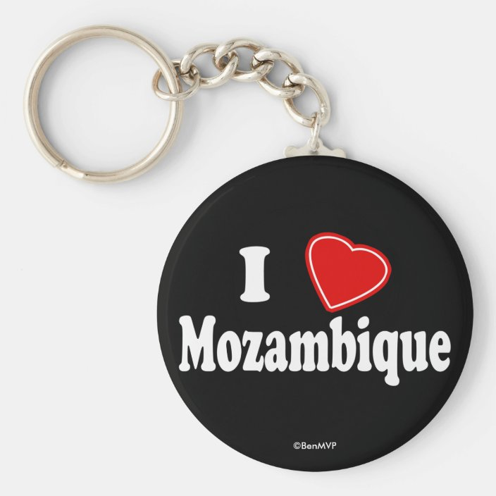 I Love Mozambique Key Chain