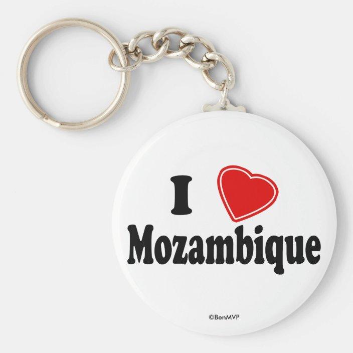 I Love Mozambique Keychain