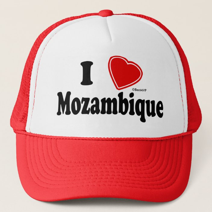 I Love Mozambique Mesh Hat
