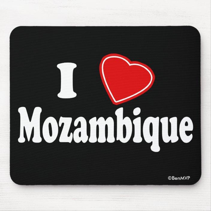 I Love Mozambique Mouse Pad
