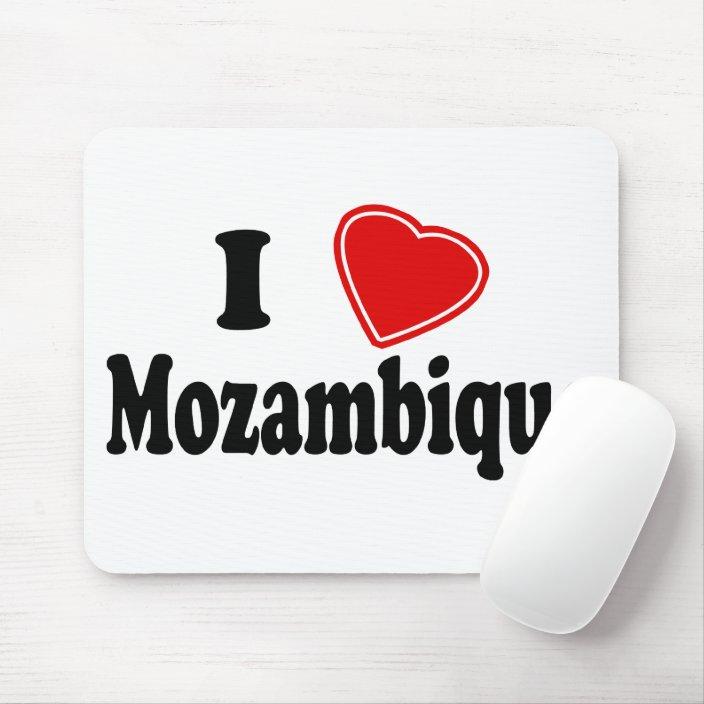 I Love Mozambique Mousepad