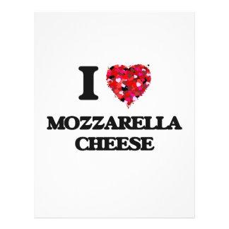 "I love Mozzarella Cheese 8.5"" X 11"" Flyer"