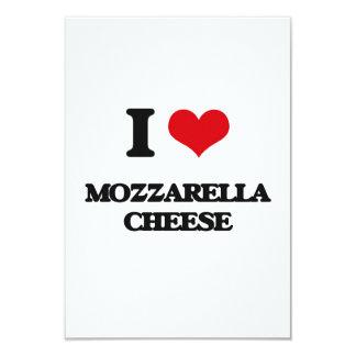 I love Mozzarella Cheese 3.5x5 Paper Invitation Card