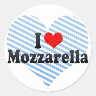 I Love Mozzarella Classic Round Sticker