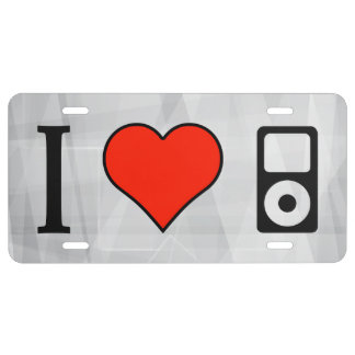 I Love Mp3s License Plate