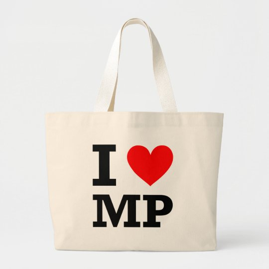 I Love MP Design Large Tote Bag