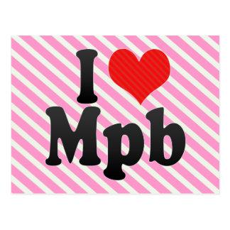 I Love Mpb Postcard