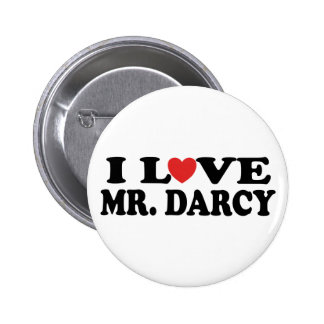 I Love Mr. Darcy 2 Inch Round Button