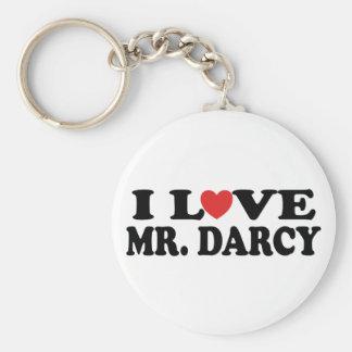 I Love Mr. Darcy Basic Round Button Keychain