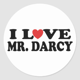 I Love Mr. Darcy Classic Round Sticker