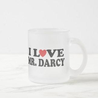 I Love Mr. Darcy Frosted Glass Coffee Mug