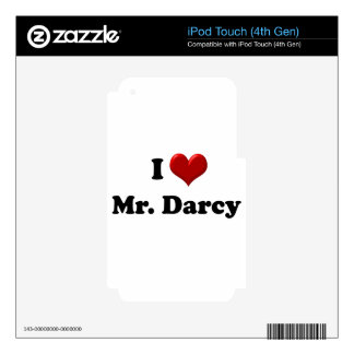 I Love Mr. Darcy Skins For iPod Touch 4G