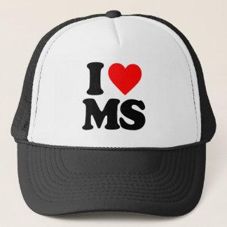 I LOVE MS TRUCKER HAT