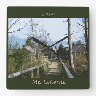 I love Mt LeConte Photo Art Square Wall Clock