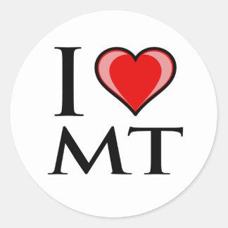 I Love MT - Montana Round Sticker