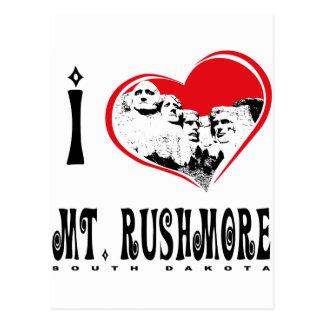 I Love Mt. Rushmore Postcard